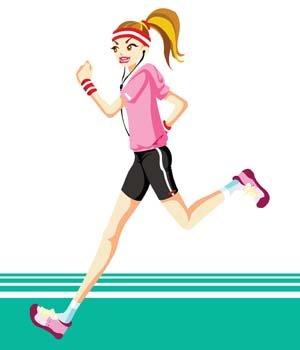 Free Running sport vector
