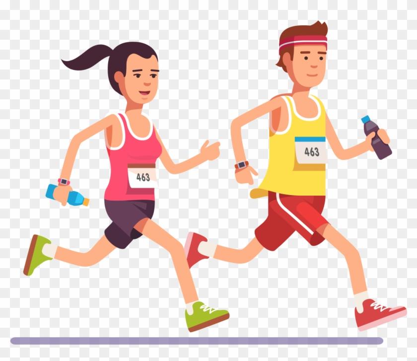 Animation running sport.