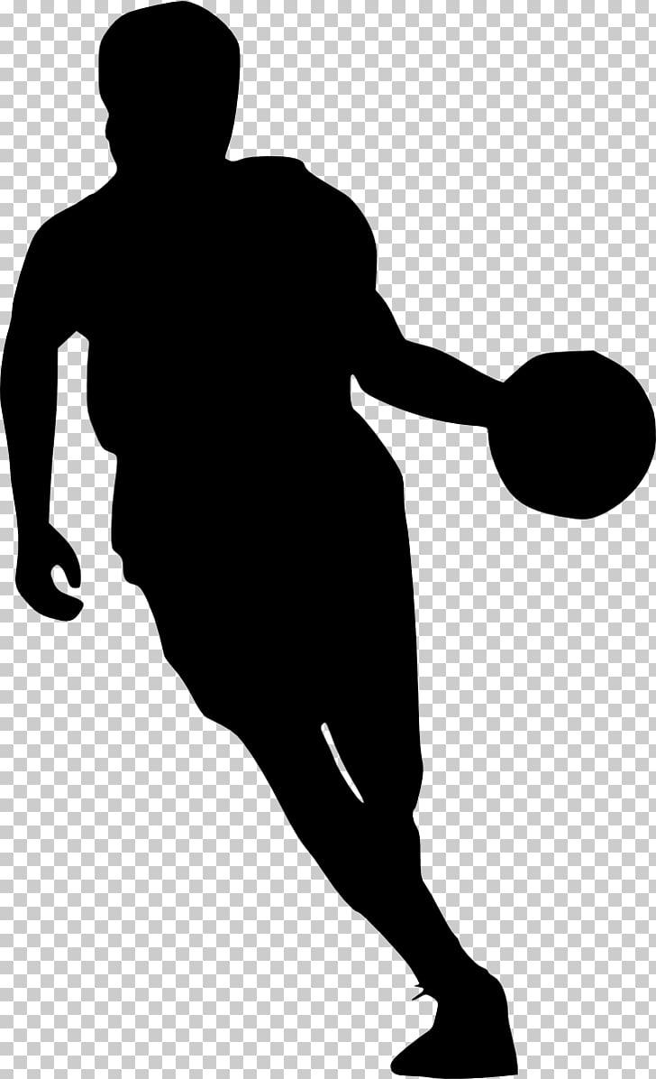 Basketball silhouette sport.