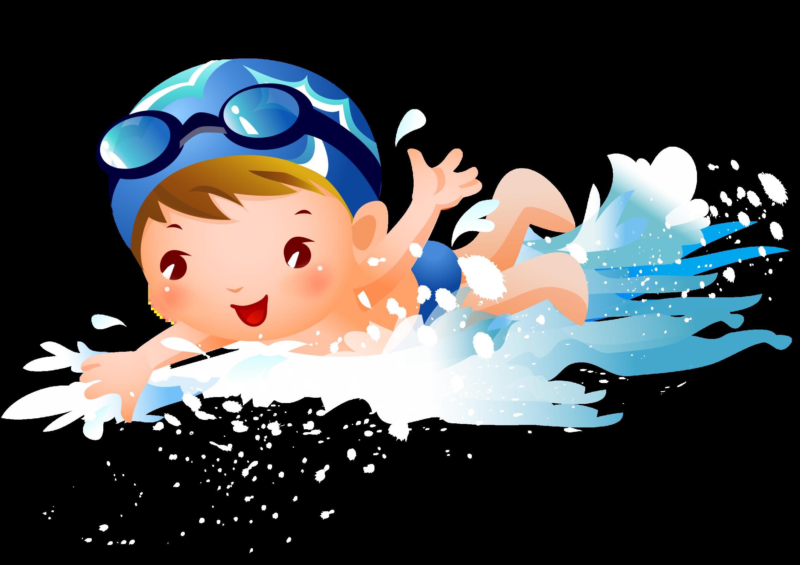 Swimming child clip.