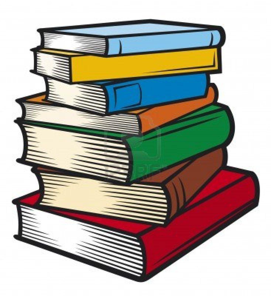 Pile books clipart.