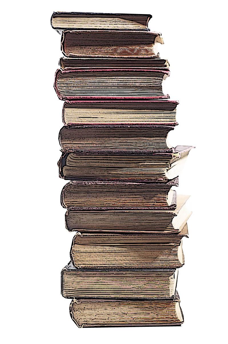 Free pile books.