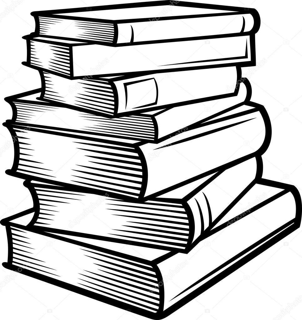 Stack books books.