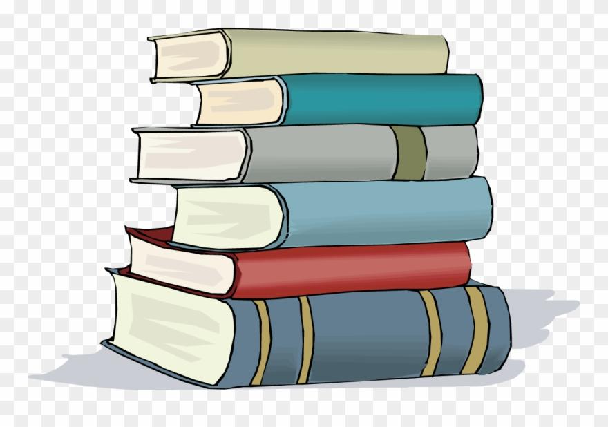 Cartoon stack books.