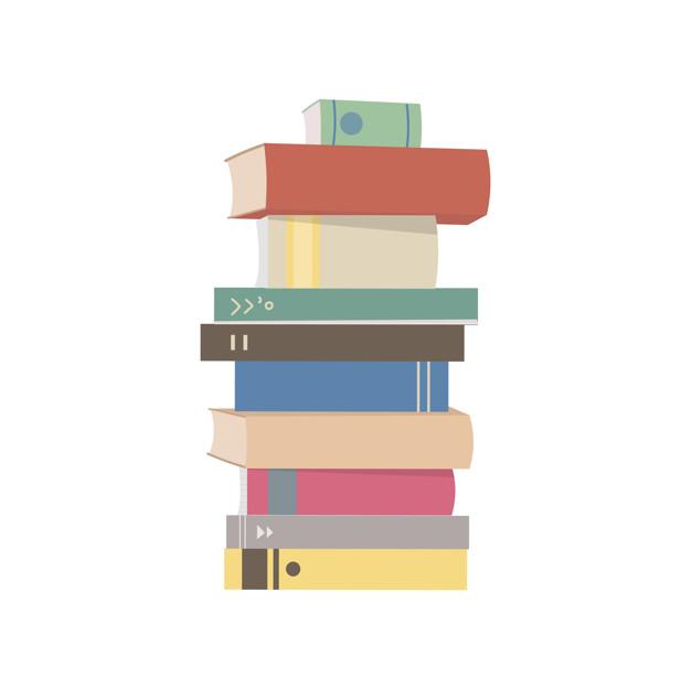Pile books vectors.