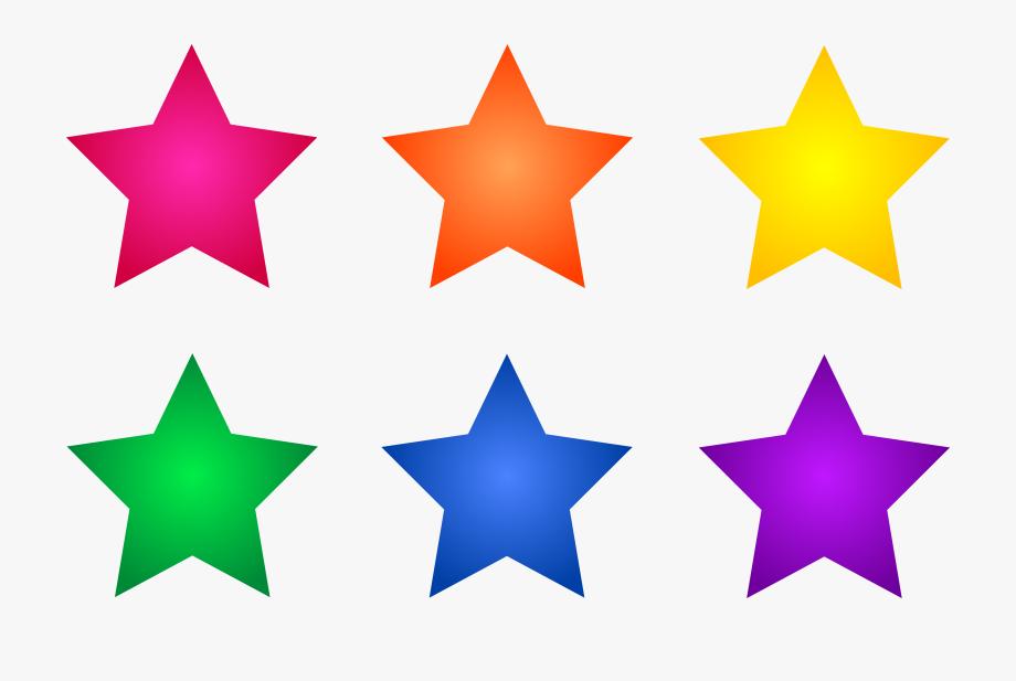 Clipart stars colored.