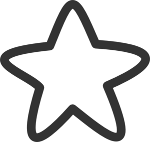Black And White Star Clip Art at Clker