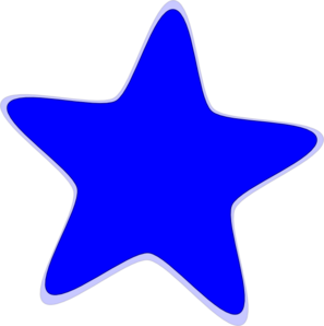 Blue Star Clip Art at Clker
