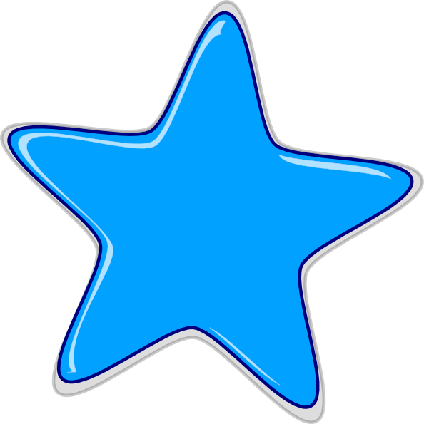 Free Blue Star, Download Free Clip Art, Free Clip Art on