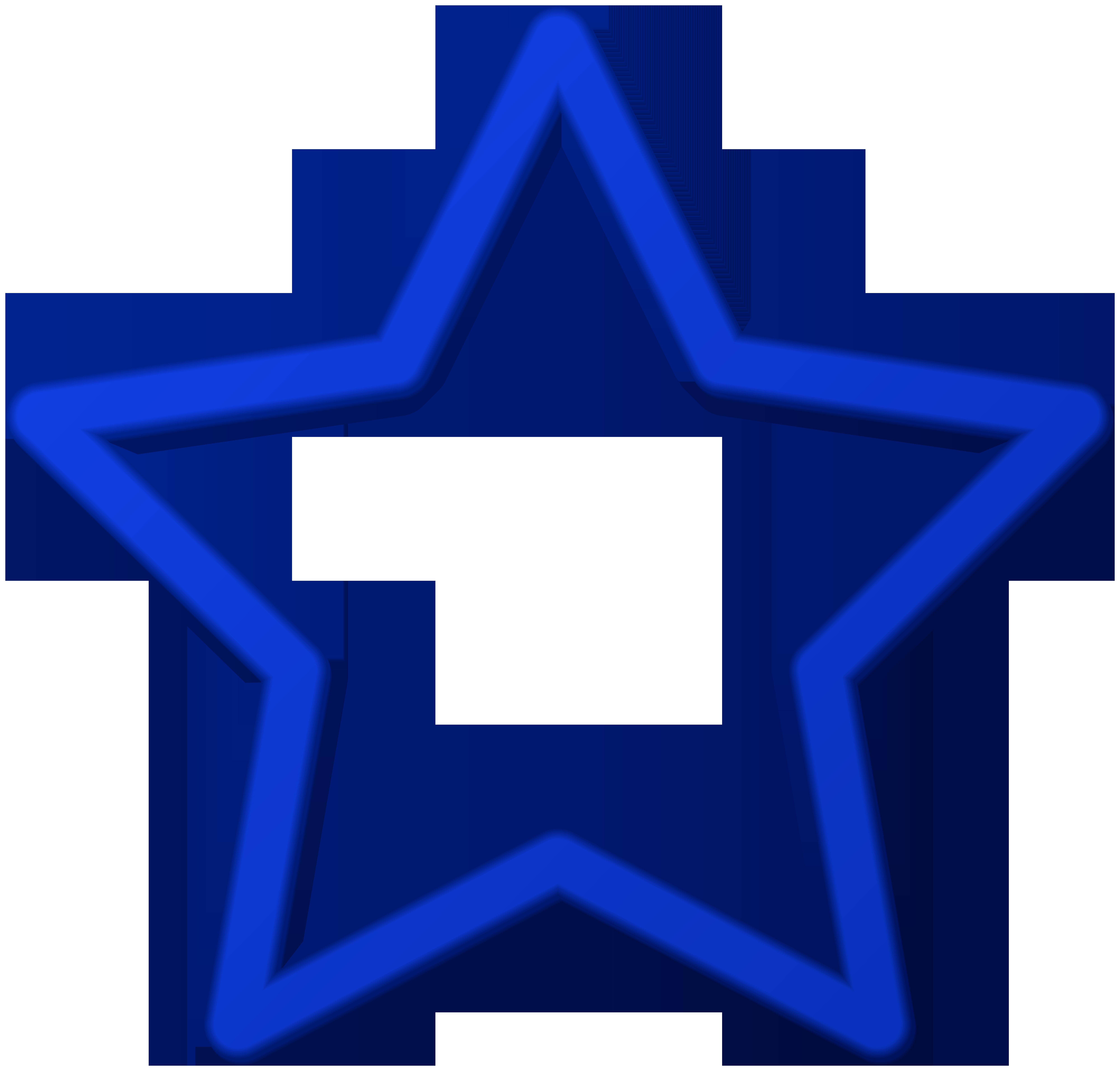 Blue star border.