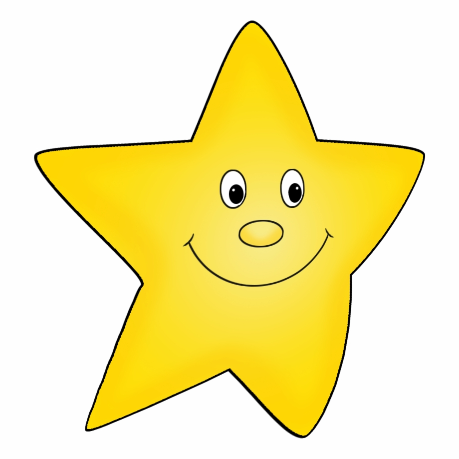 Flying Yellow Cartoon Star Drawing