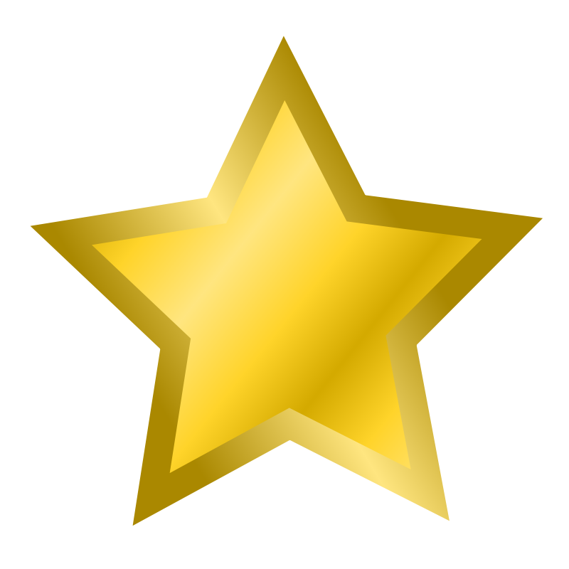 Free Gold Star Clipart Pictures