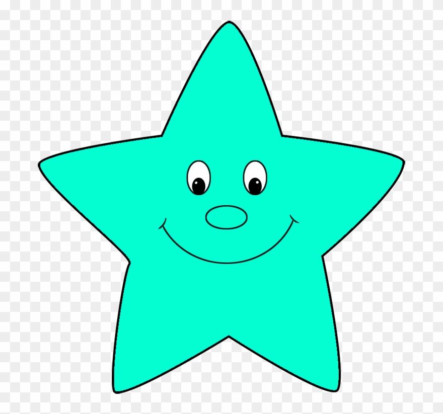 Turquoise cartoon star.