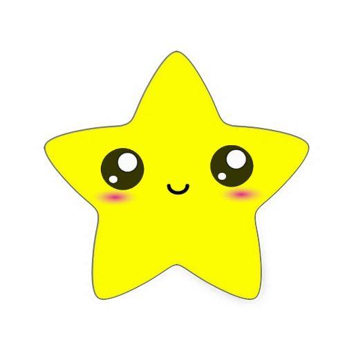 Kawaii happy star.