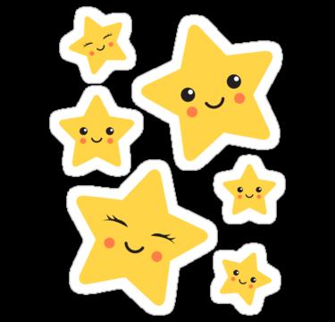 Cute kawaii stars.