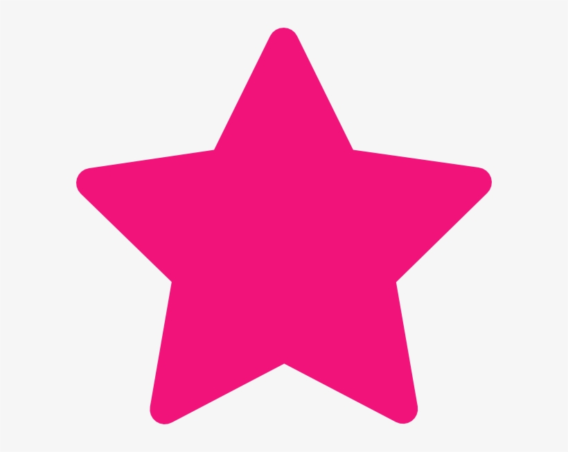 Pink Star Clip Art At Clker