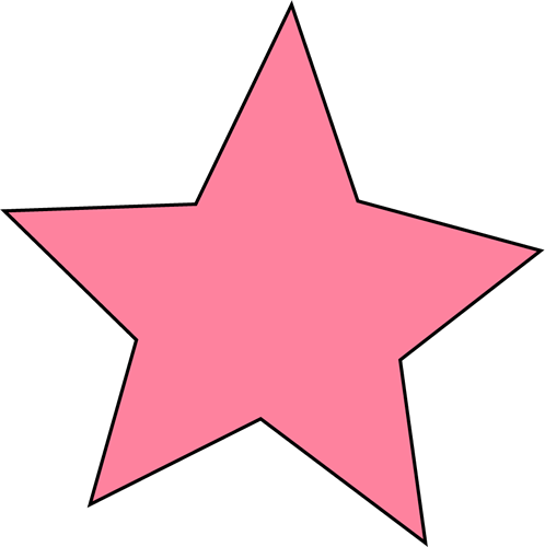 Pink Star Clip Art Image