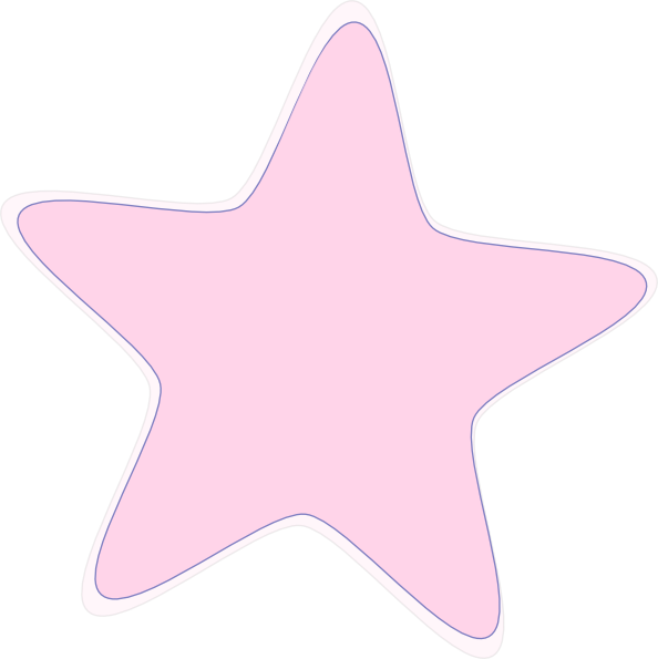 Baby Pink Star Clip Art at Clker