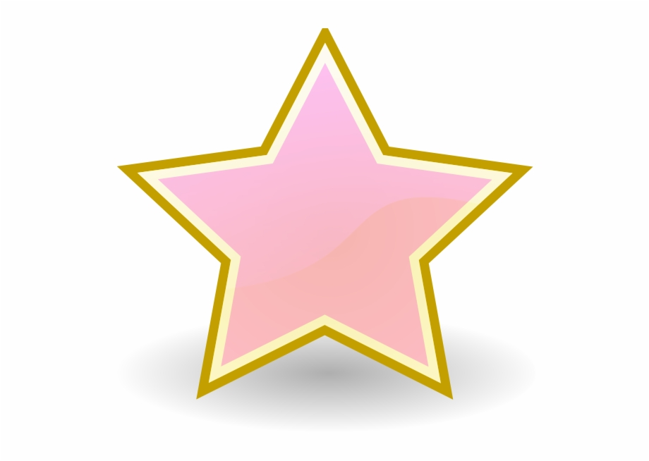 Baby pink star.