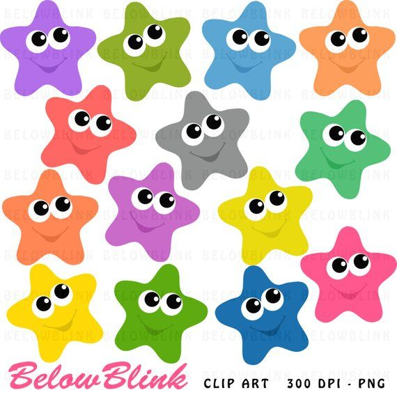 Happy stars clipart.