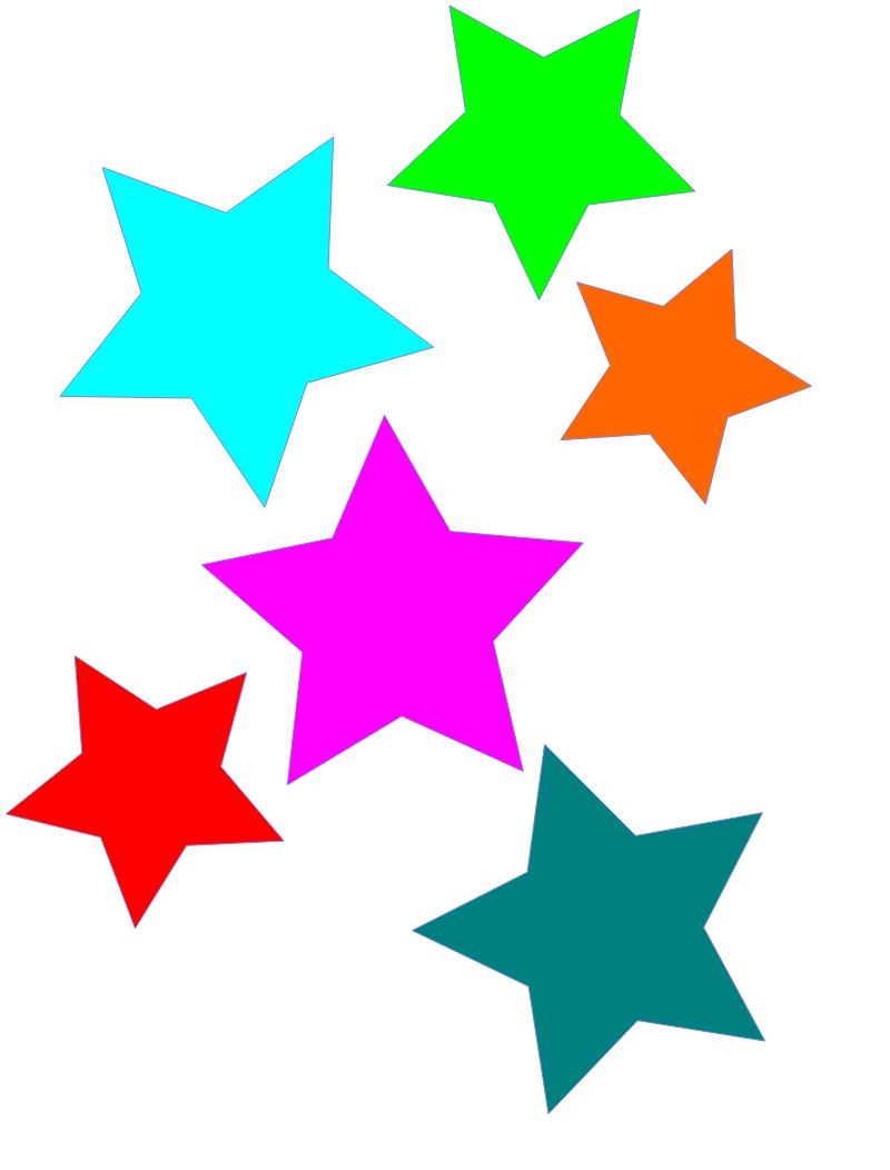 Clipart stars printable.