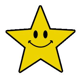 Smiley face star.