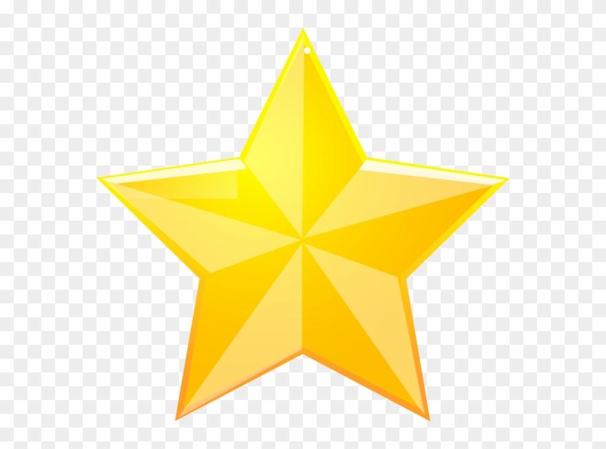 Shaded Yellow Star Clip Art