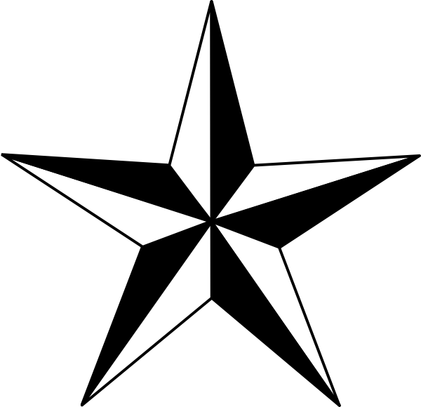 Black Nautical Star clip art