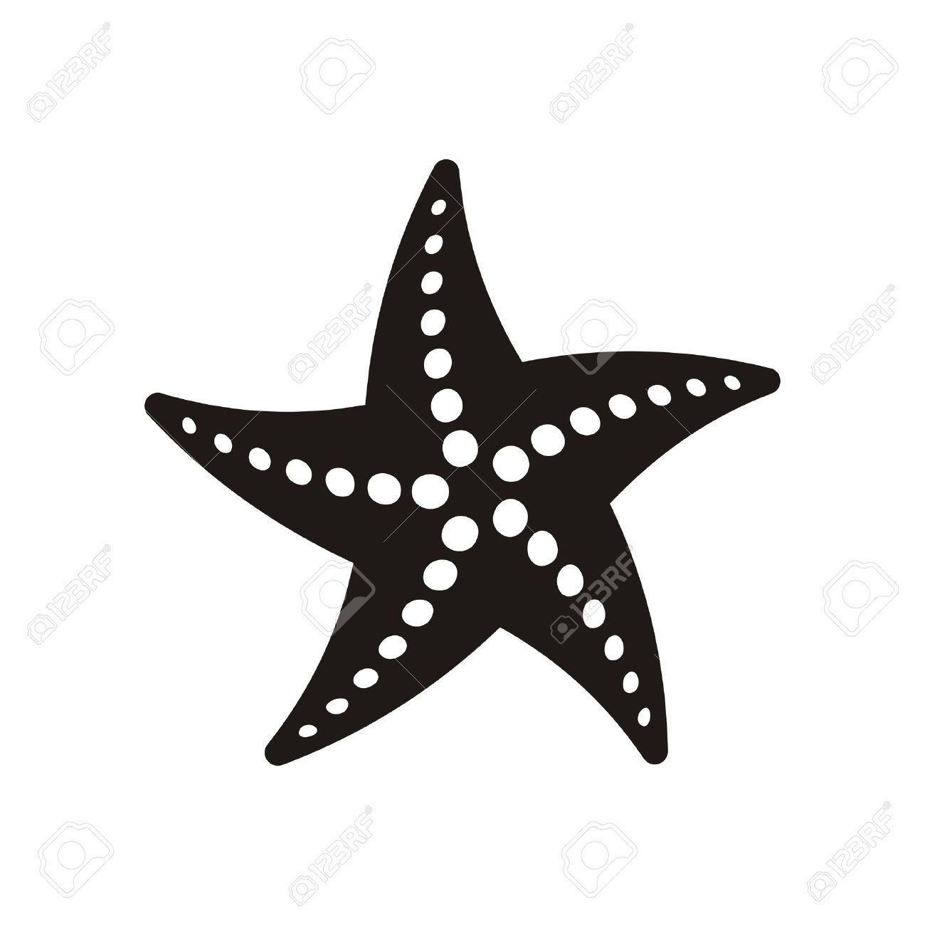 Stock vector starfish.