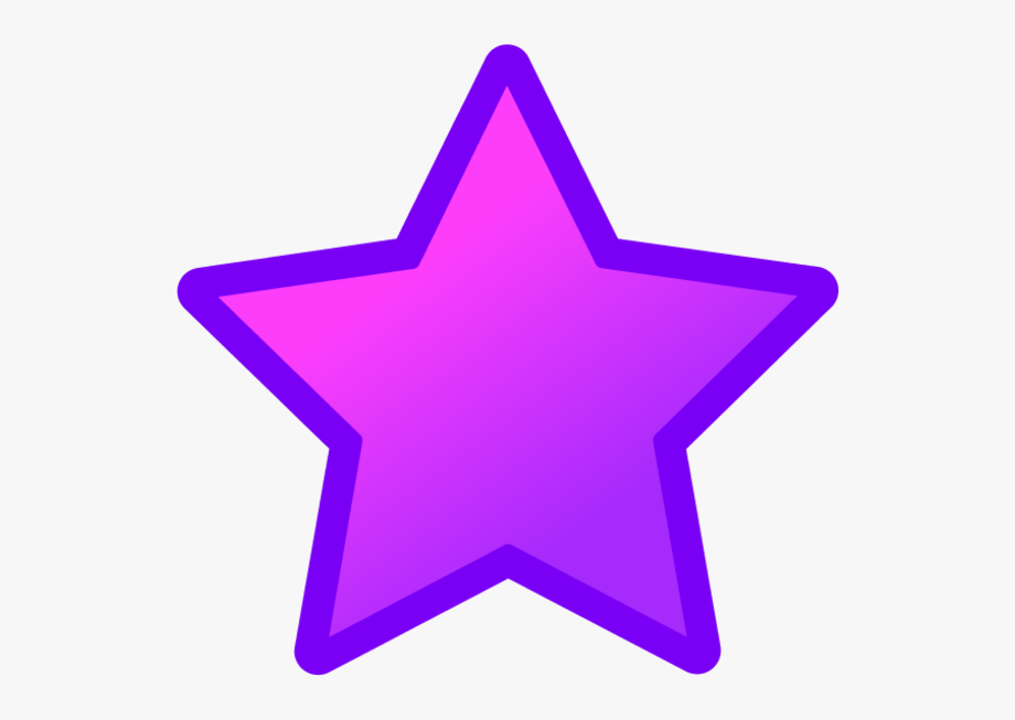Purple star clip.