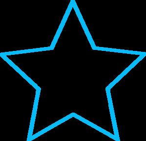Blue star outline.