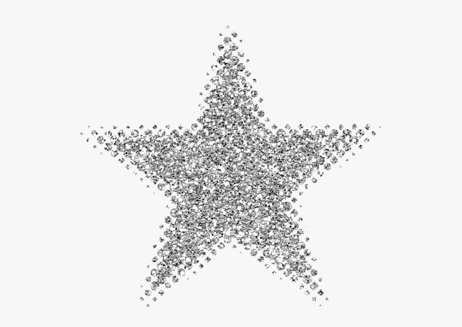 Collection glitter star.