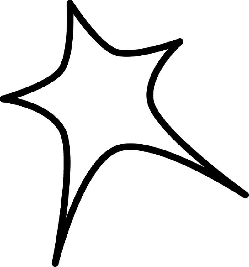 Star Sign Outline Clip Art