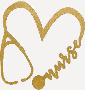Stethoscope heart shape.