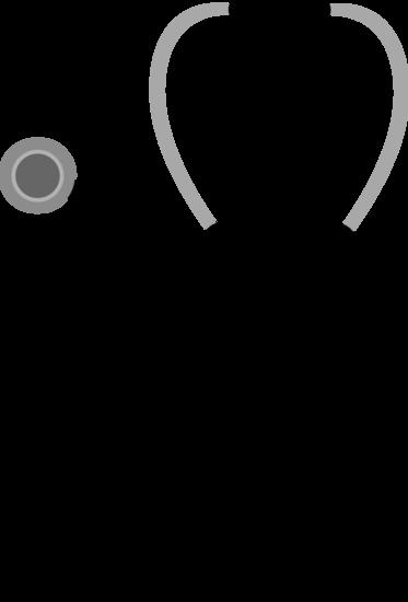 Black medical stethoscope.