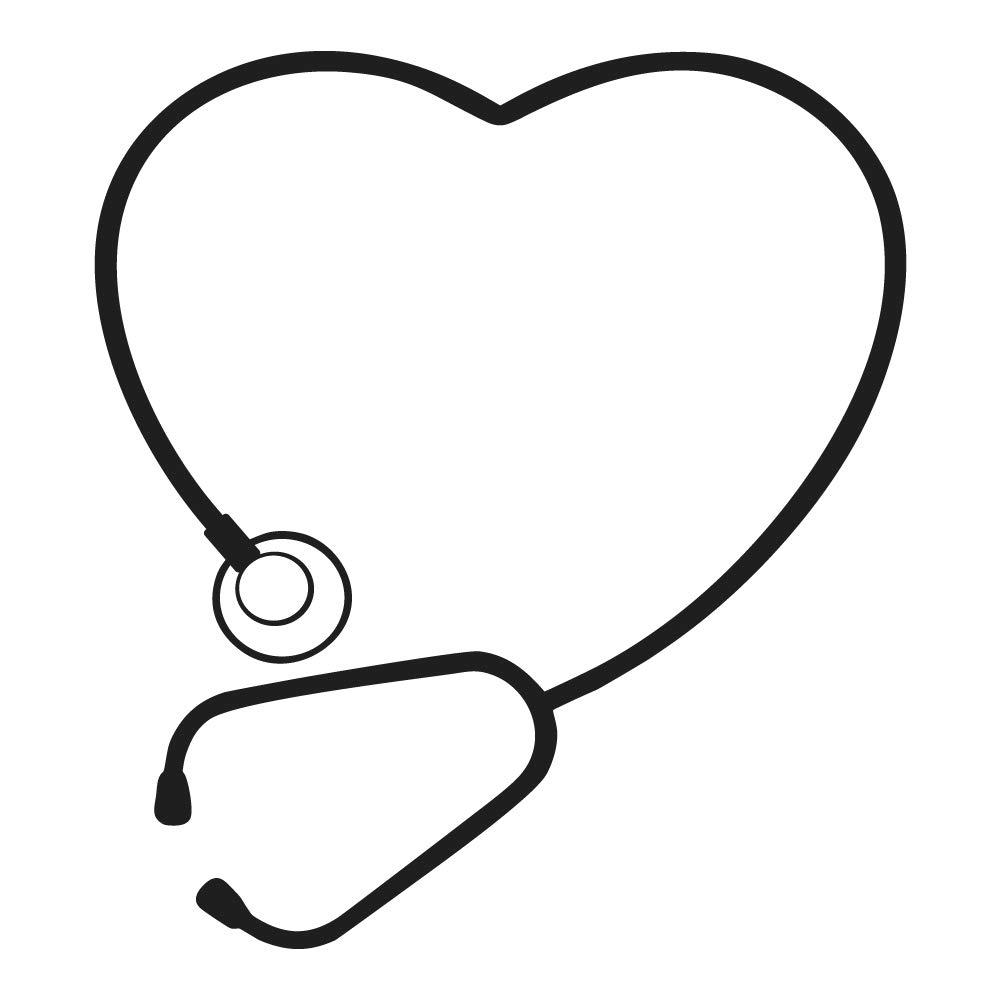 Cute stethoscope heart.