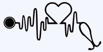 Heartbeat stethoscope decal.