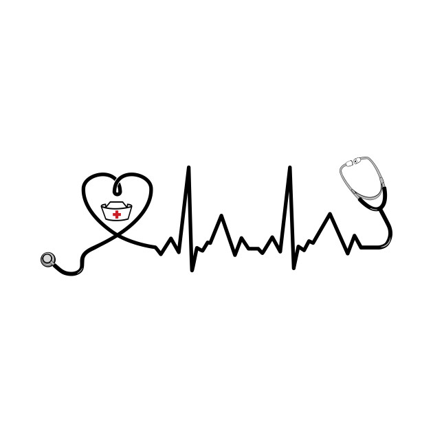 Nurse stethoscope heartbeat.