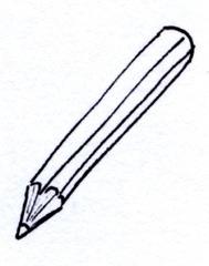 Stift clipart schwarz.