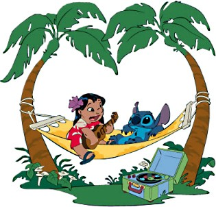 Tropical luau clipart.