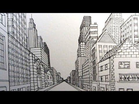 How draw city.