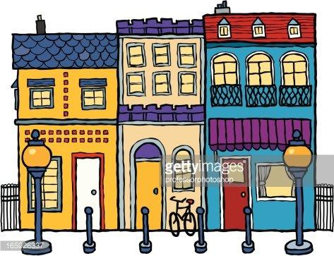 Street Scene Clipart Image