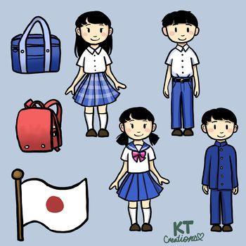 Japanese school students.
