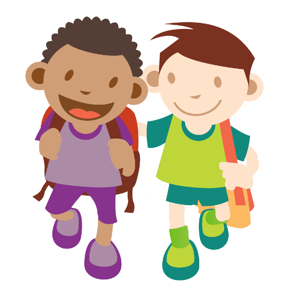 Student clipart walking.