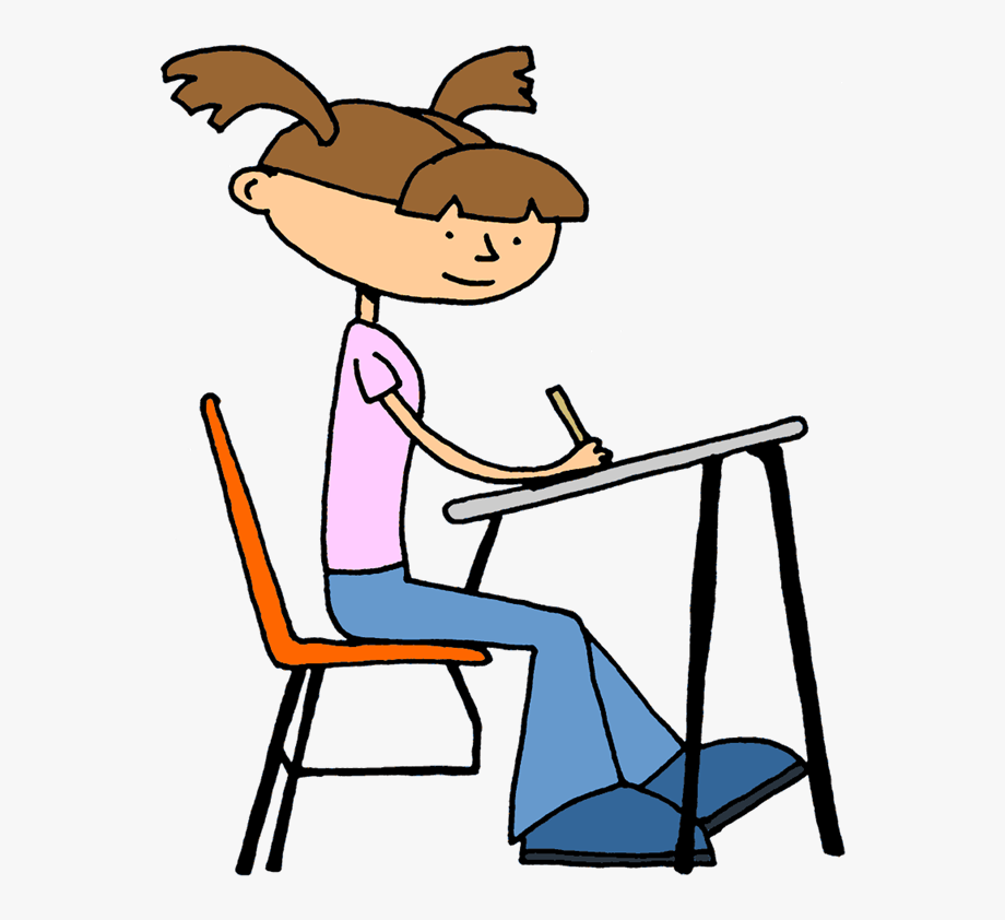 Clipart student working.