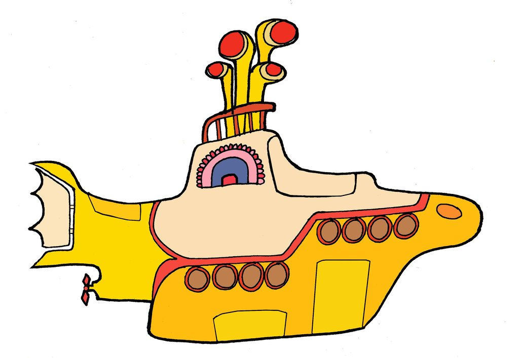 Beatles yellow submarine.