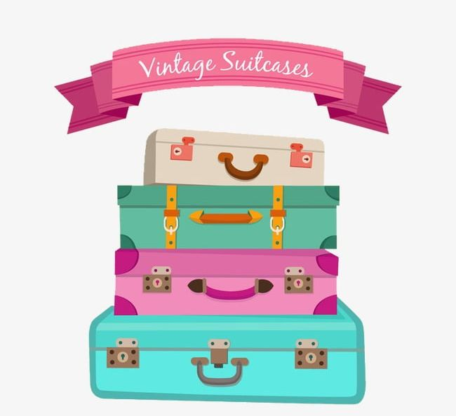 Color stacked suitcase.