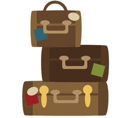 Free suitcases cliparts.