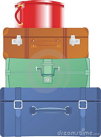 Stacked suitcase clipart.