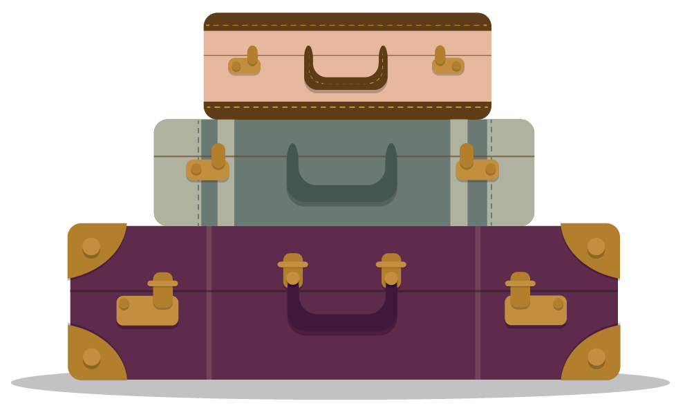 Luggage clipart stack.